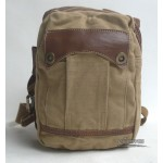 Khaki retro flight bag, canvas shoulde​r chest bag pack