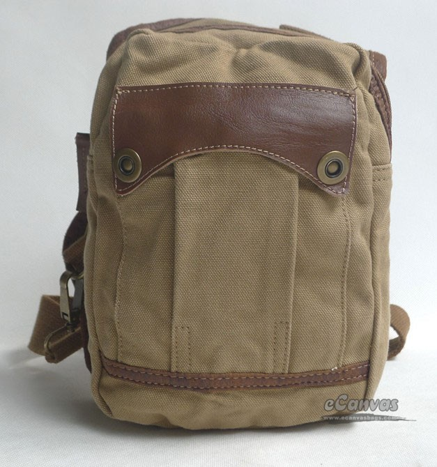 Khaki Retro Flight Bag Canvas Shoulde R Chest Bag Pack