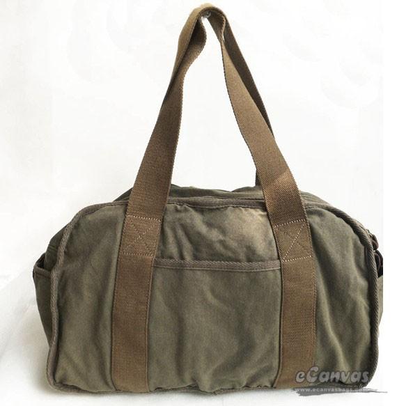 Big shoulder bag, black canvas bag, best tote bag 3 colors - E ...