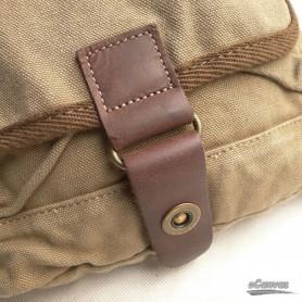 womens khaki Small canvas bag
