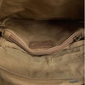 khaki shoulder tote bag