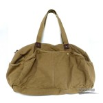 Canvas shoulderbag, khaki travel shoulder bag, black trendy tote bag