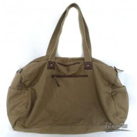 mens khaki travel shoulder bag