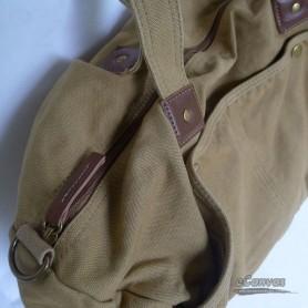 khaki travel shoulder bag for mens