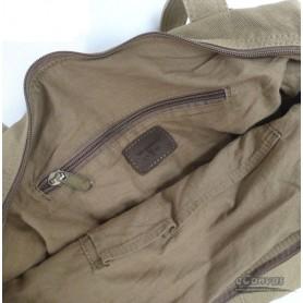 khaki trendy tote bag