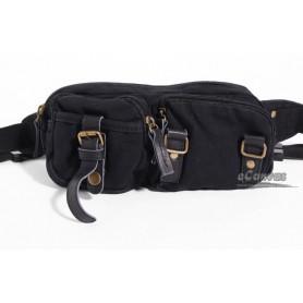 black vintage fanny pack