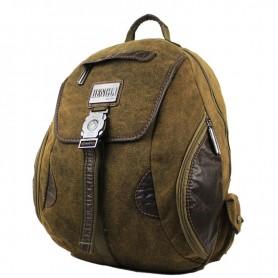 Canvas large backpack, khaki organizer backpack