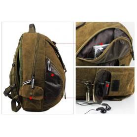 khaki large backpack
