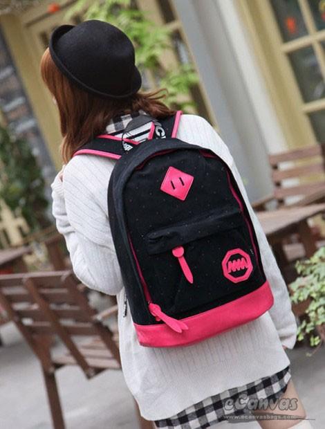 f2e05d17a8c9 ... pink cotton canvas medium backpack ...