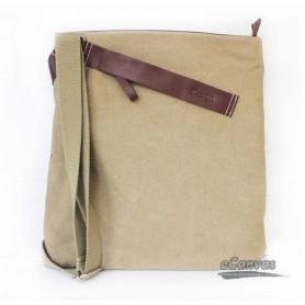 Casual leather canvas bag for men, Messenger bag khaki & black