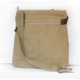 Casual leather canvas bag for men