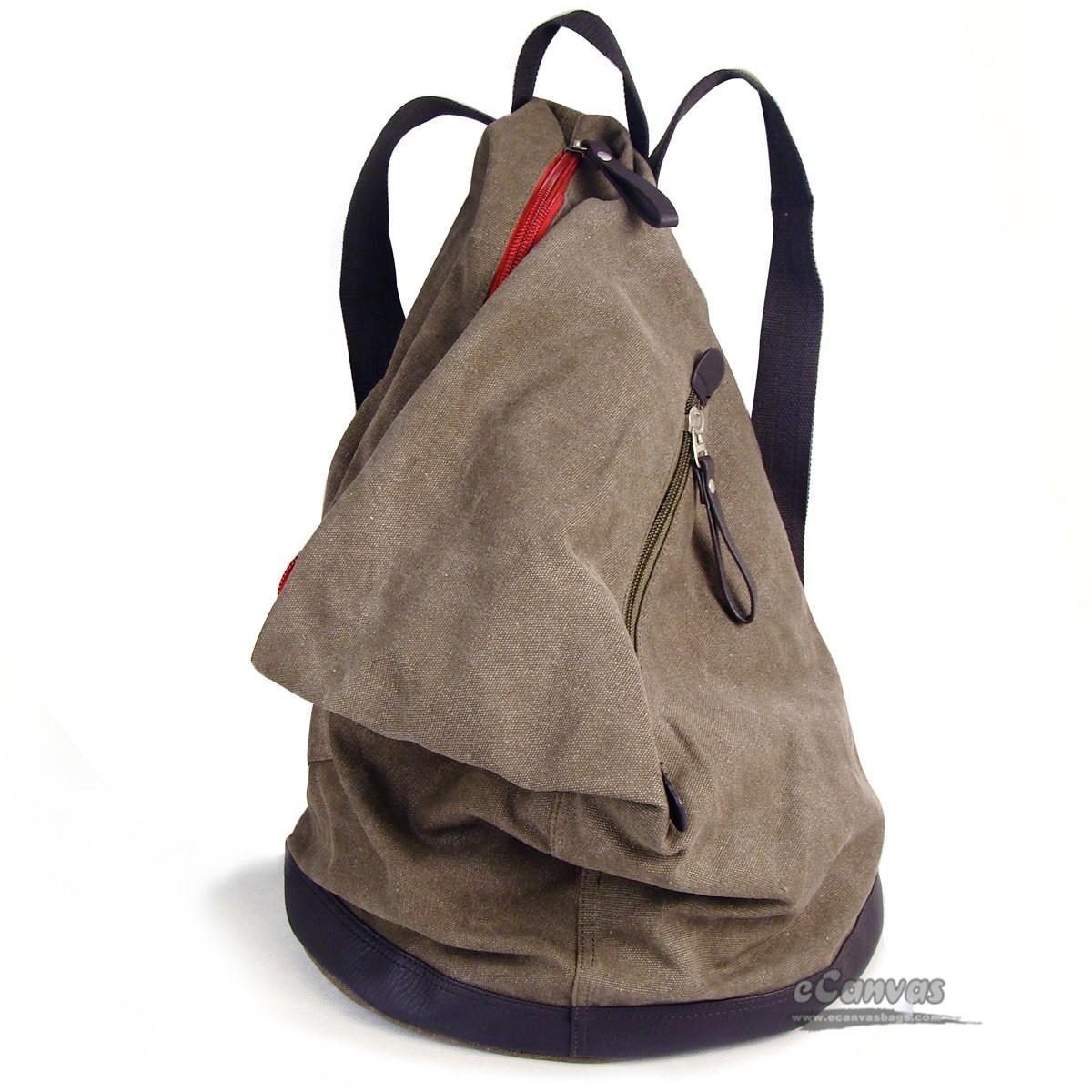 Canvas hobo backpack, boys backpack, travel purse 5 colors - E ...