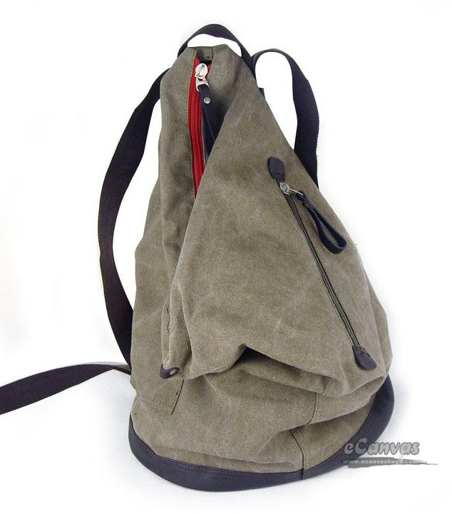 Canvas hobo backpack, boys backpack, travel purse 5 colors - E ...