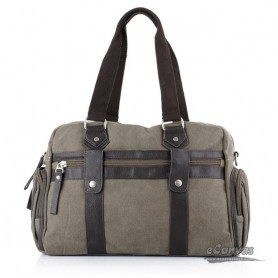 Summer handbag, grey teacher tote bag, canvas compact messenger