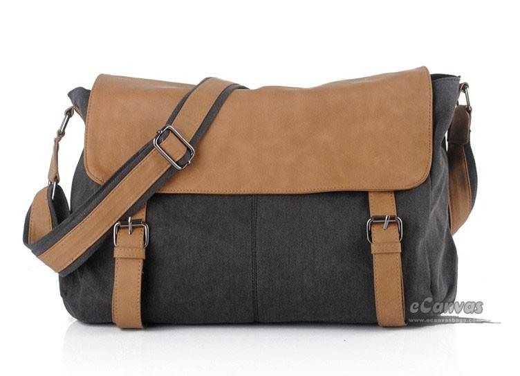 c6e298896374 Black messenger bag ...
