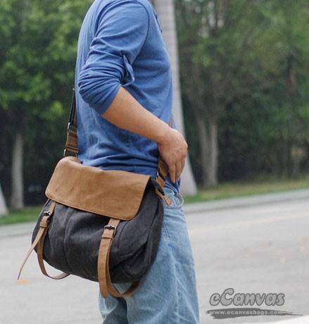 Black Messenger Bag Across The Shoulder Bag Vertical