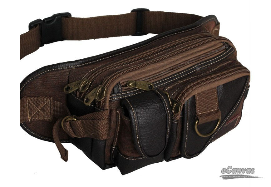 Canvas Awesome Pack Coffee Belt Belly Bag