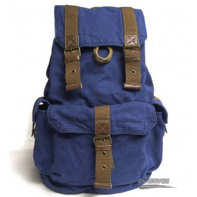 Personalized travel bag rucksack for mens blue