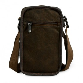 womens khaki slim messenger