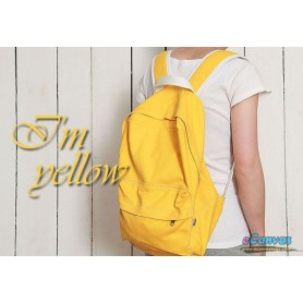 yellow canvas purse