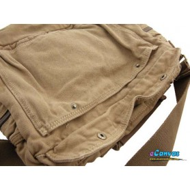 Canvas men shoulder bag khaki