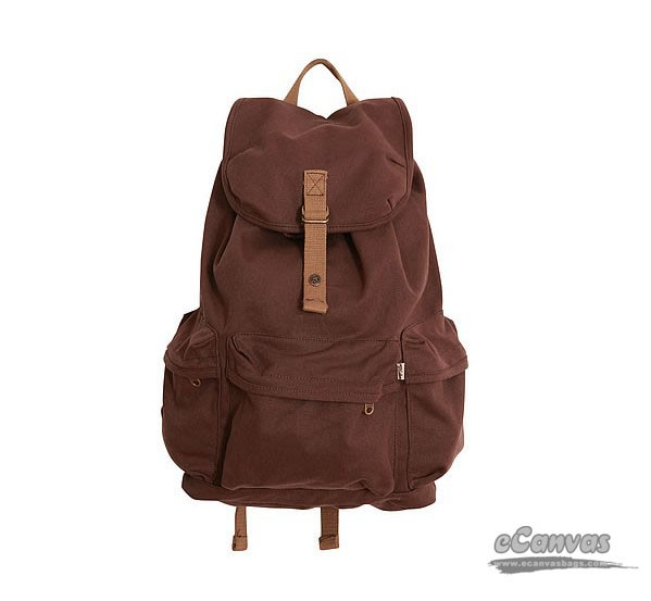 Organic canvas backpack duffel bag, black canvas bag, camera ...