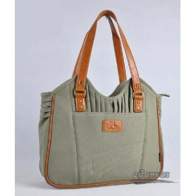 Womens business tote bag army green