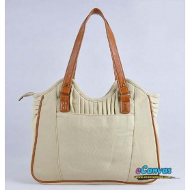 canvas Womens business tote bag beige