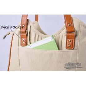 canvas business tote bag pack beige