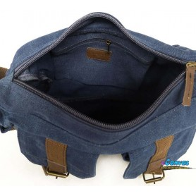 blue mens shoulder bag pack
