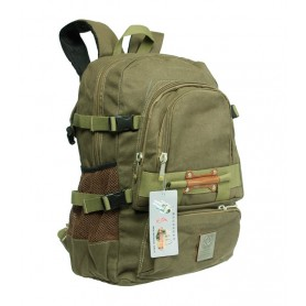 army green canvas knapsack