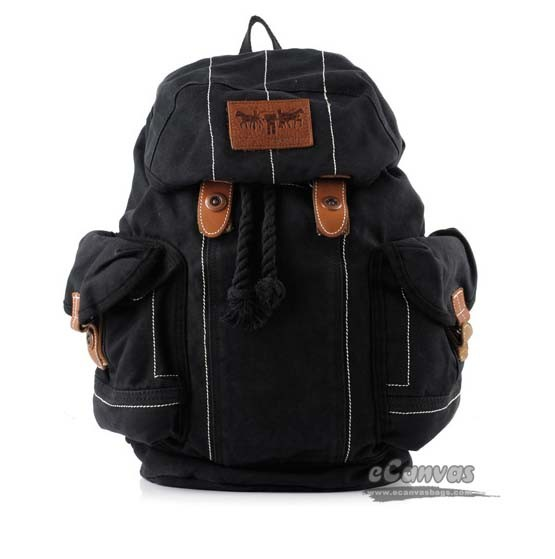 Black Neutral Fashion Leisure Backpack