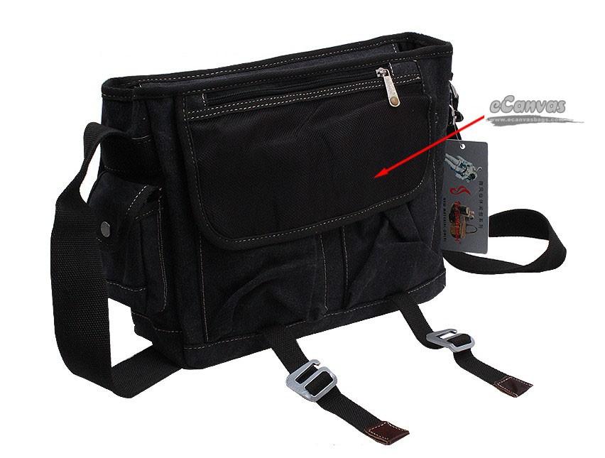 Book Bag Stylish Canvas Black Briefcase
