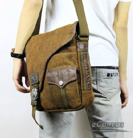 Vertical european messenger, khaki mens shoulder bag, messenger ...