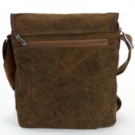 Vertical European Messenger Khaki Mens Shoulder Bag