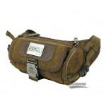 Lumbar waist pack, khaki mens fanny pack, retro fanny pack