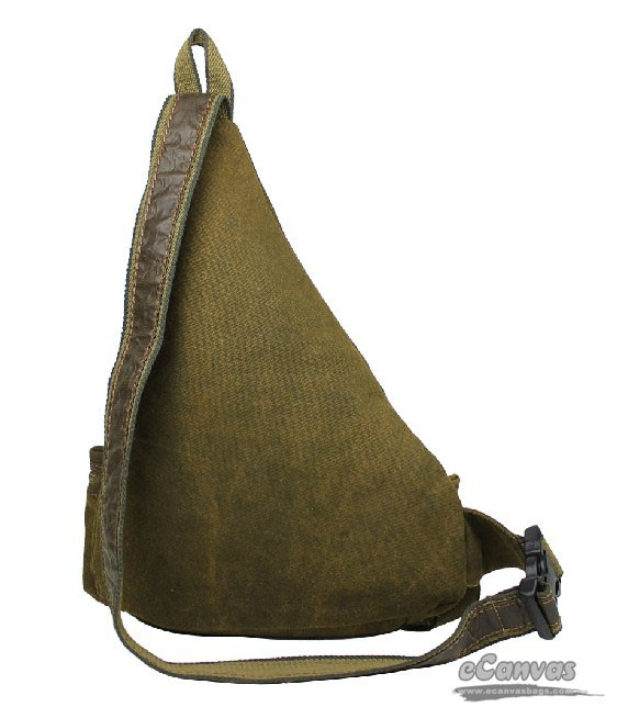 Hot unisex vintage men's canvas shoulder bag, khaki chest pack ...