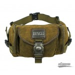 Hip fanny pack, canvas hip waist bag, khaki jogging fanny pack