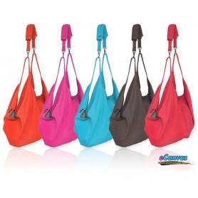 blue Spring canvas shoulder women bag