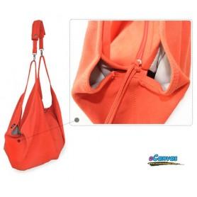 Spring canvas shoulder bag