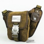 Lumbar fanny pack, canvas security waist pack, khaki tactical waist pack
