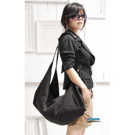 black Spring canvas shoulder women bag