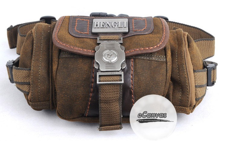 Travel Packs Mens Khaki Waist Hip Bag