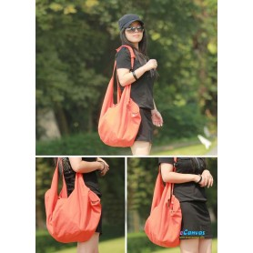 orange Spring canvas shoulder women bag