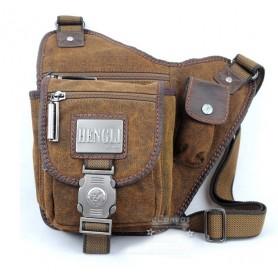 Cheap messenger bag, khaki canvas shoulder bag, gym bag for men