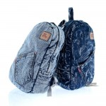 Denim backpack blue, denim book bag, navy everyday bag