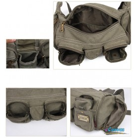 army green waist hip bag
