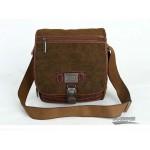 Overnight book bag, canvas travel organizer bag, khaki over the shoulder bag
