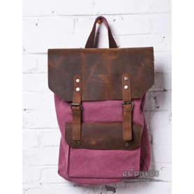pink retro backpack