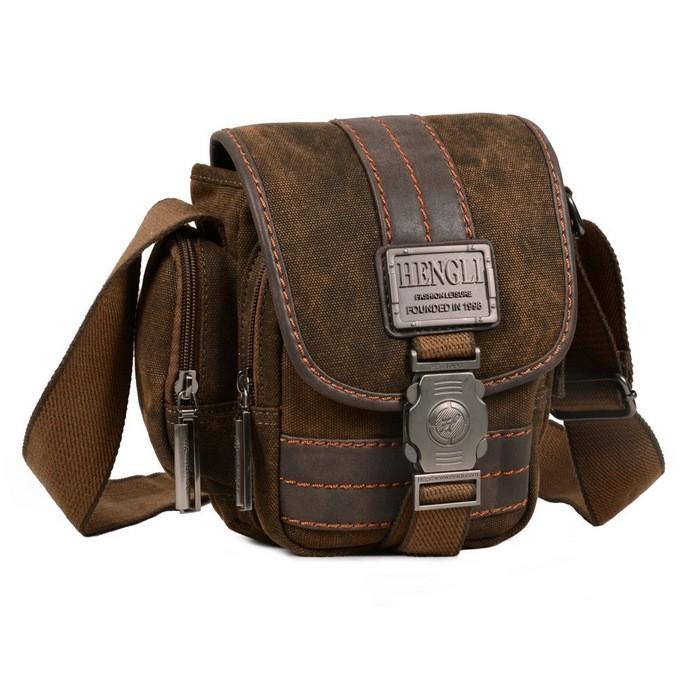 side bag, khaki travel shoulder bag for women, mens messenger bag